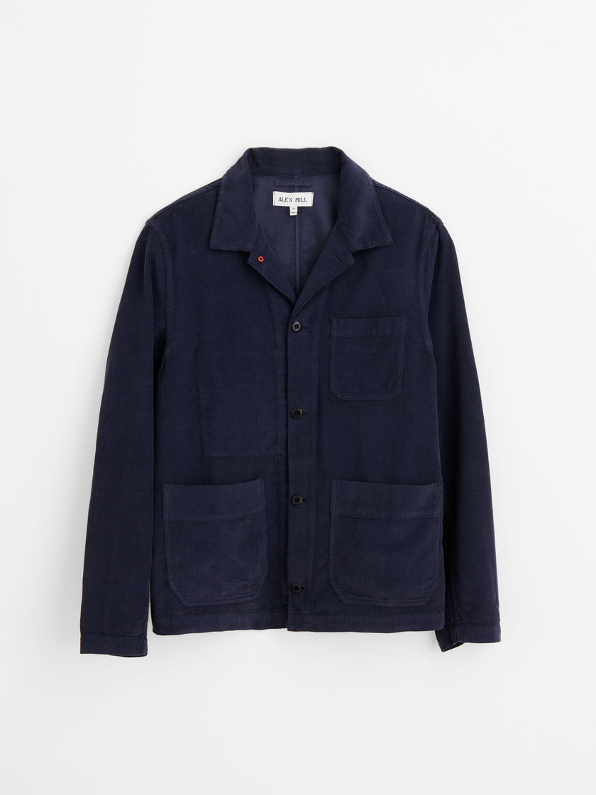 Work Jacket in Fine Wale Corduroy