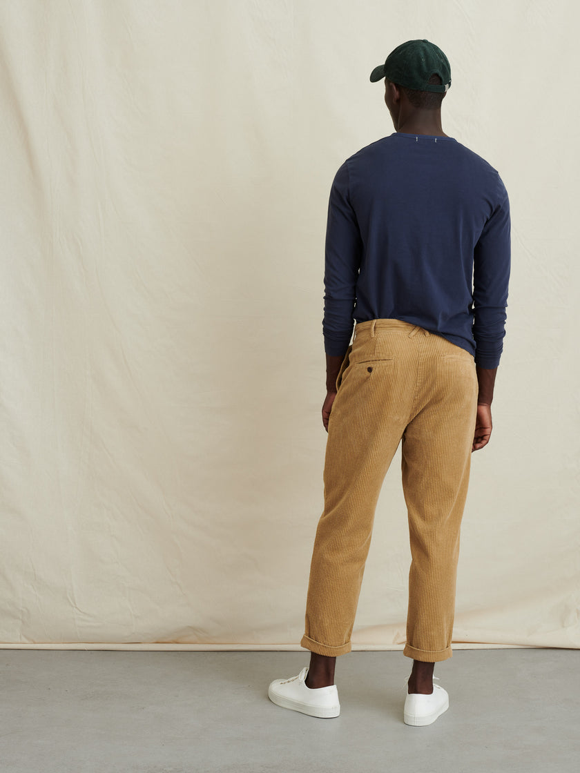 Rugged Cord Pleated Pant (Long Inseam)