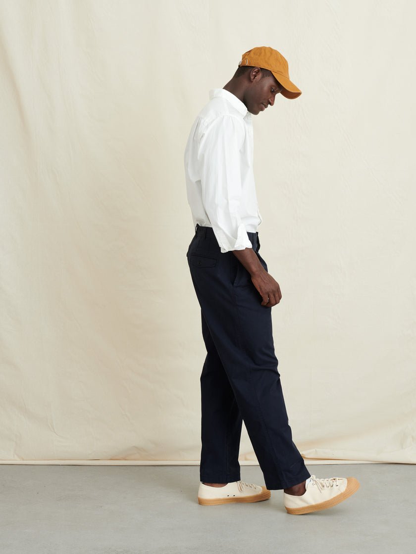 Double Pleat Trouser in Chino