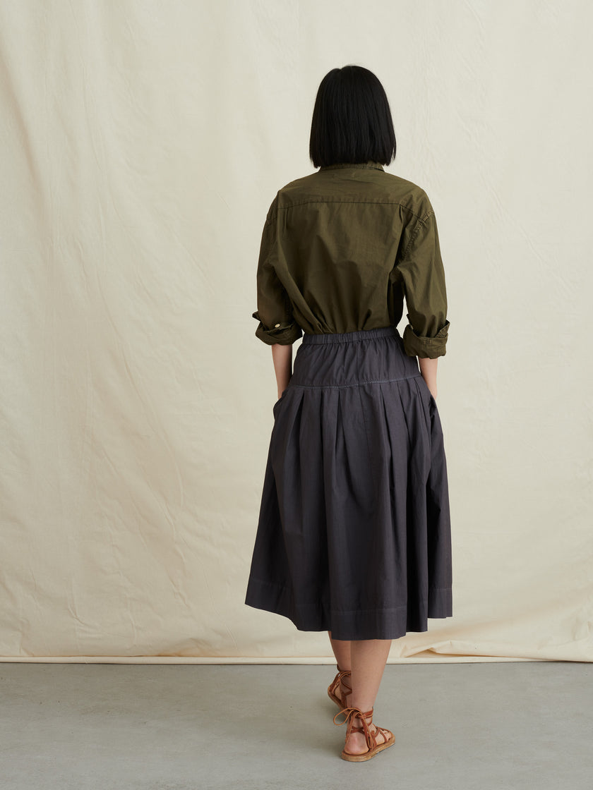Pull-On Skirt in Paper Cotton