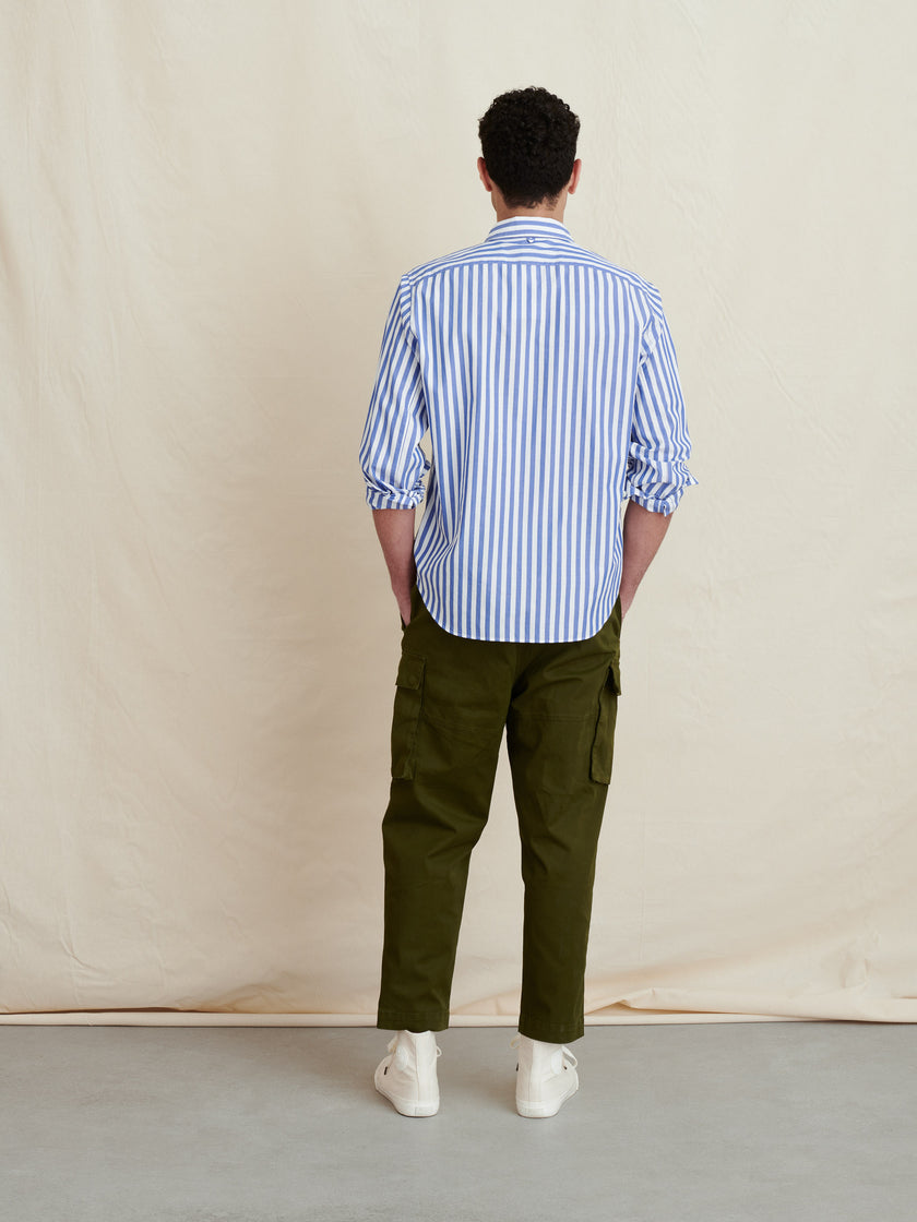 Standard Shirt in Striped Portuguese Poplin