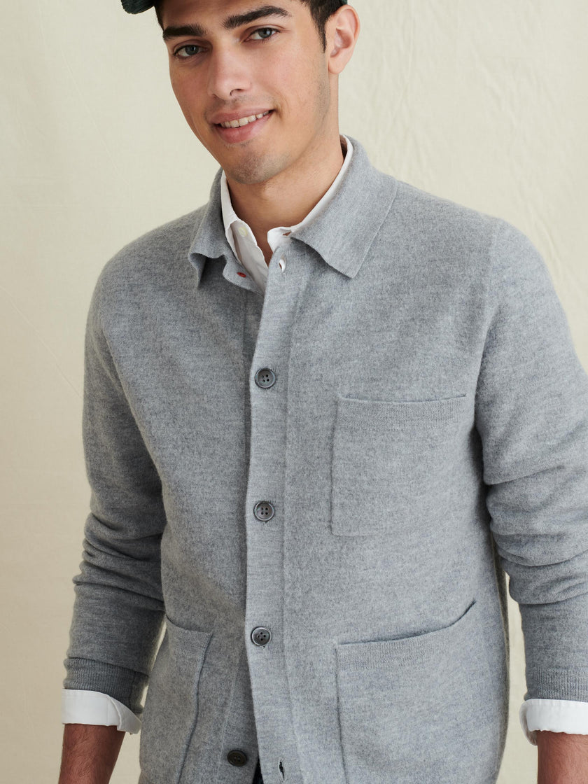 Work Jacket in Boiled Wool