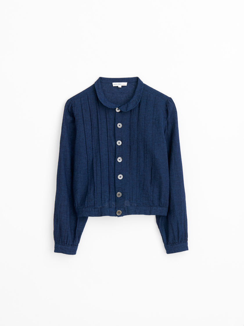 Ruth Blouse in Indigo-Dyed Chambray