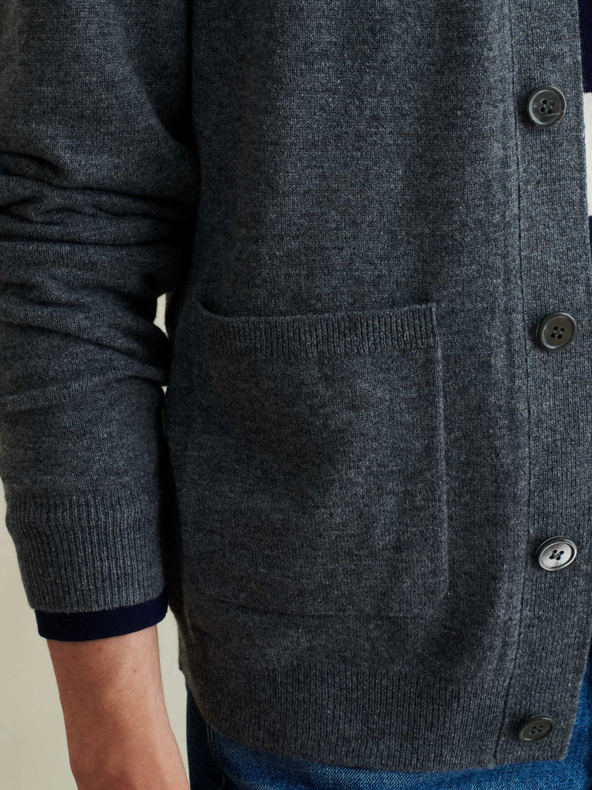 Cardigan in Superfine Merino Wool