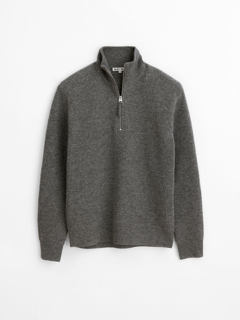Half Zip Sweater in Superfine Merino Wool