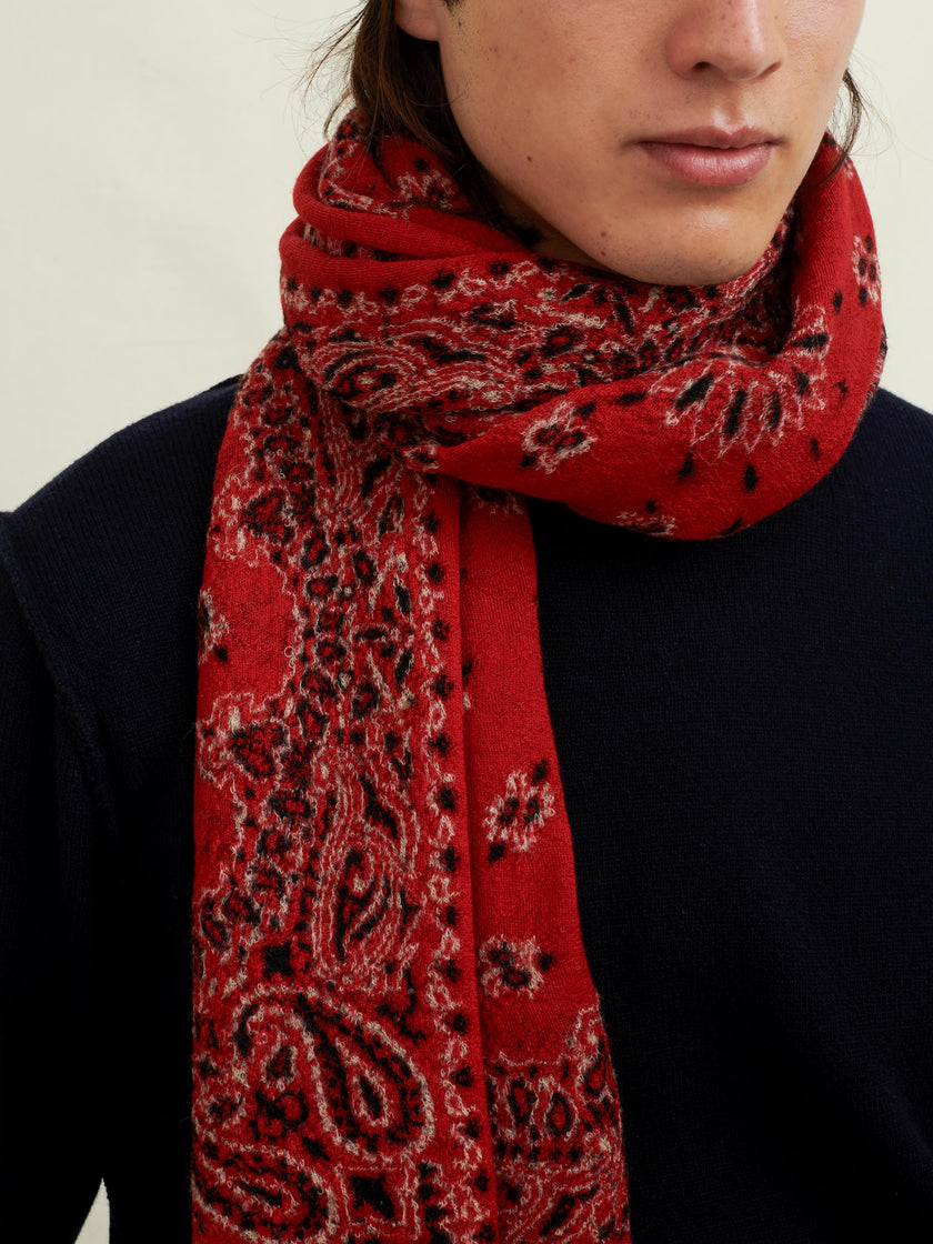 Bandana Scarf in Boiled Wool