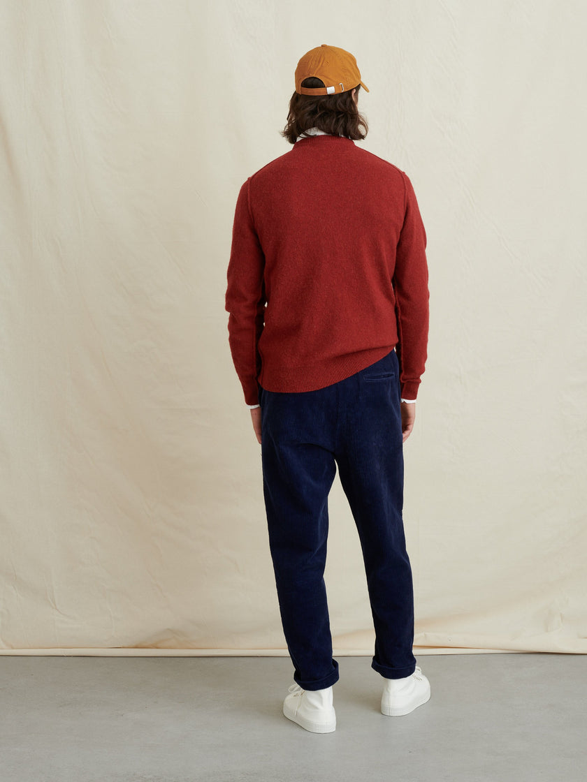 Reverse Seam Sweater in Superfine Merino Wool