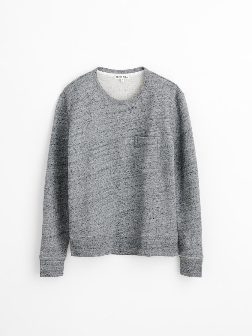 Crewneck Sweatshirt in Heathered French Terry