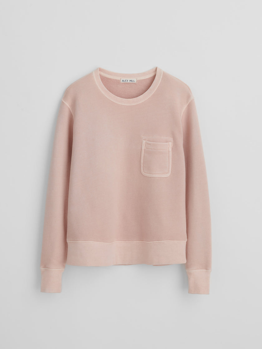 Crewneck Sweatshirt in Garment-Dyed French Terry