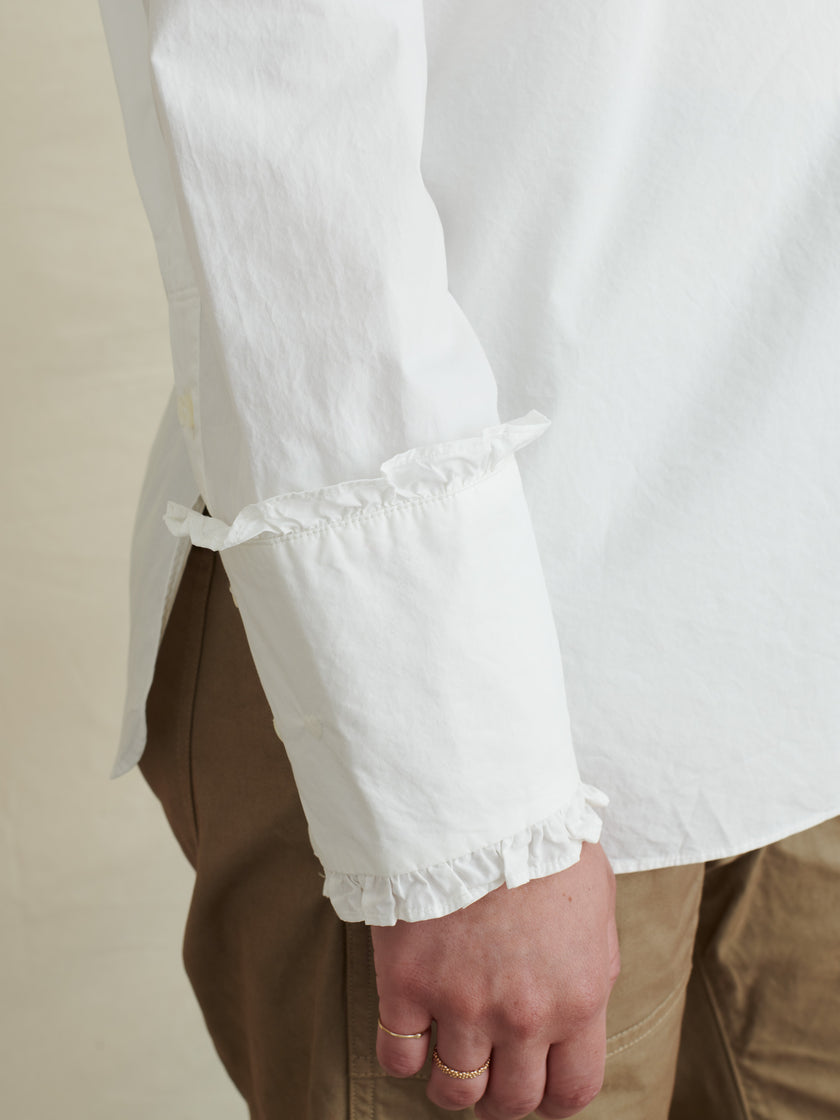 Ruffle Shirt in Paper Cotton