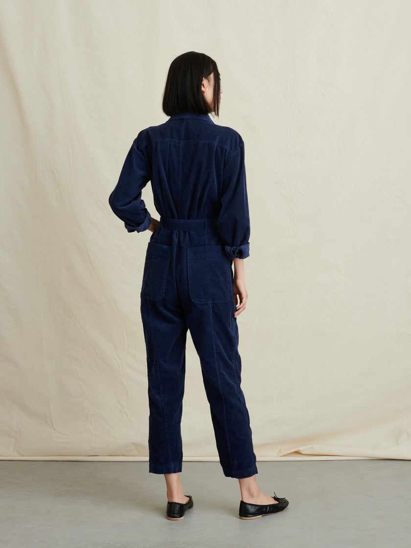 Expedition Jumpsuit in Fine Corduroy