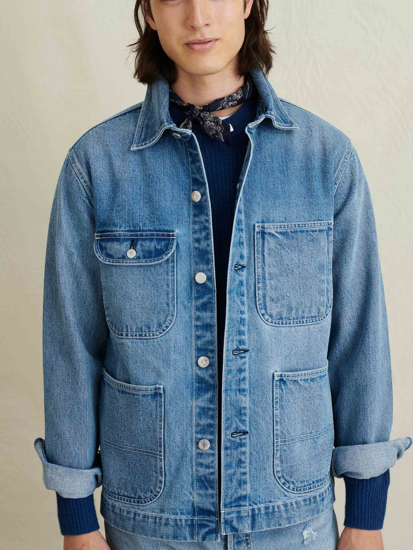 Work Jacket in Vintage Wash Denim