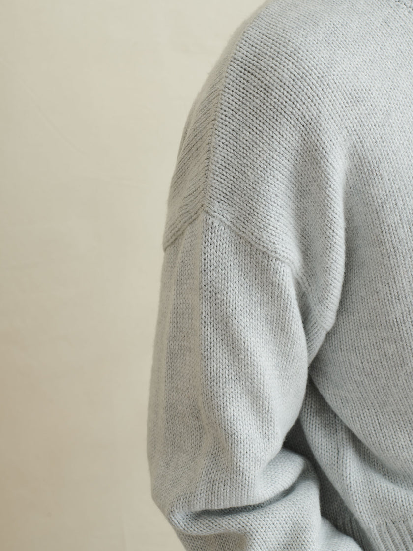 Cozy Crewneck Sweater in Wool Cotton