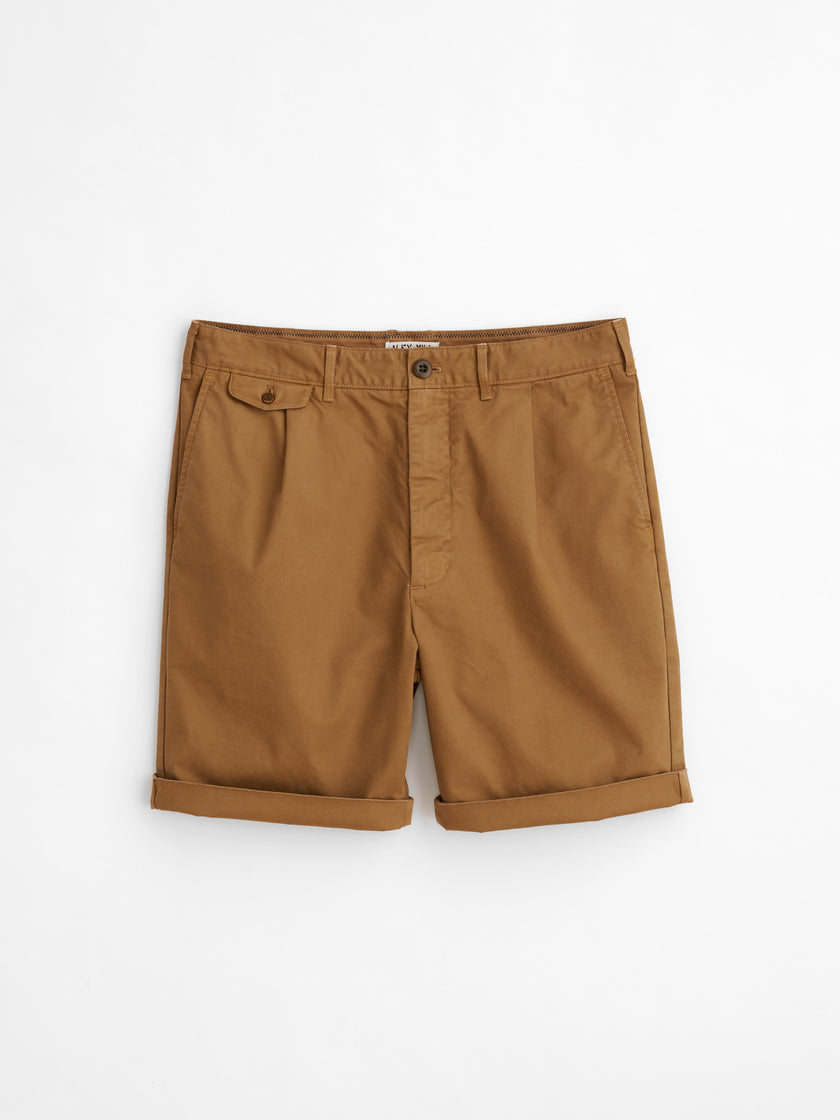 Pleated Chino Shorts