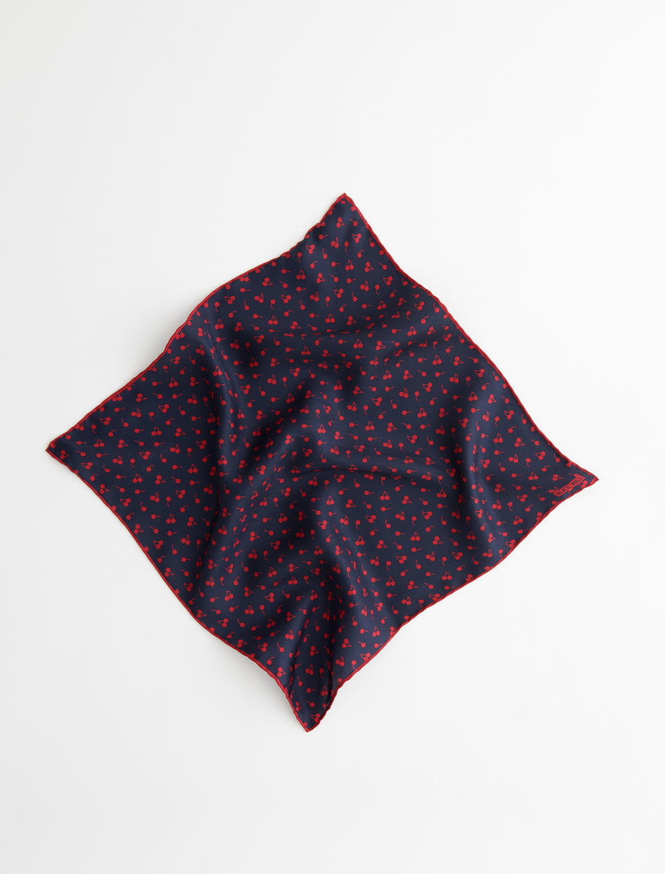 Italian Silk Scarf in Cherry Print