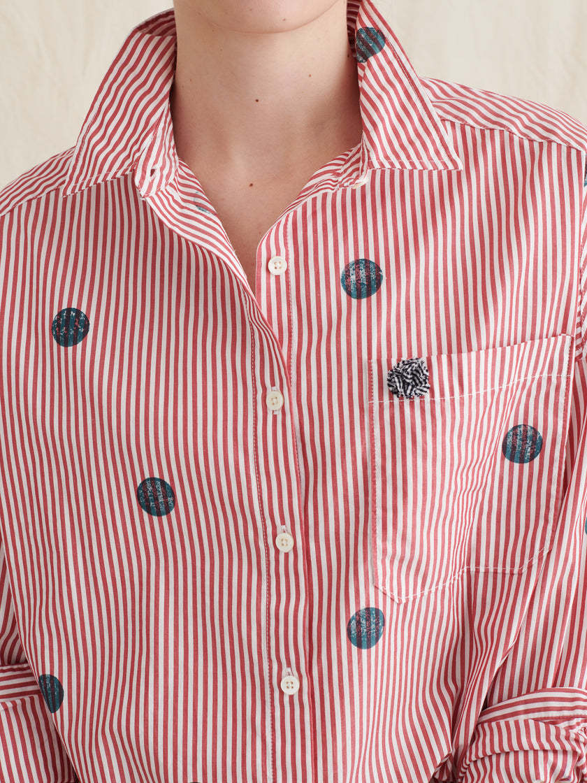 Alex Mill Limited Run: Block Printed Dot Shirt