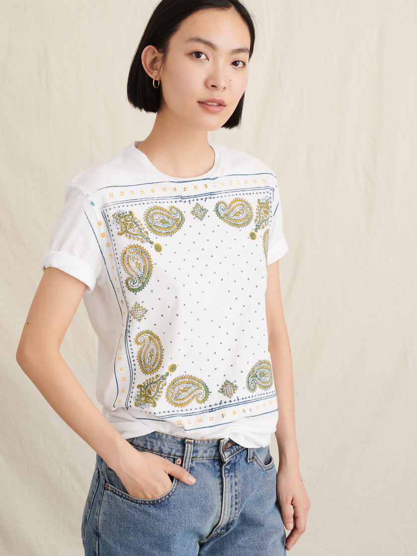 Alex Mill Editions: Block Printed Bandana Tee
