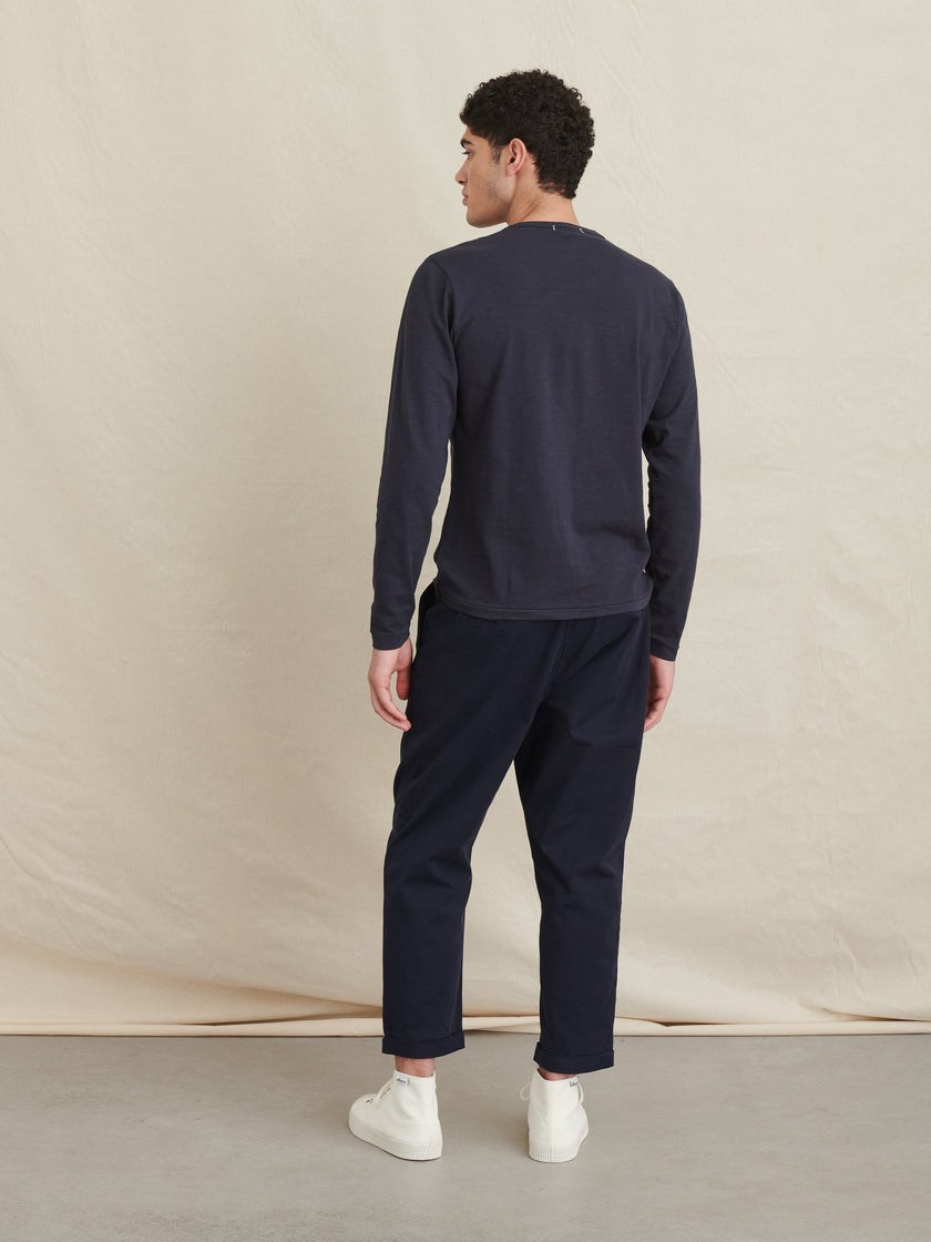 Standard Long Sleeve T-Shirt in Slub Cotton