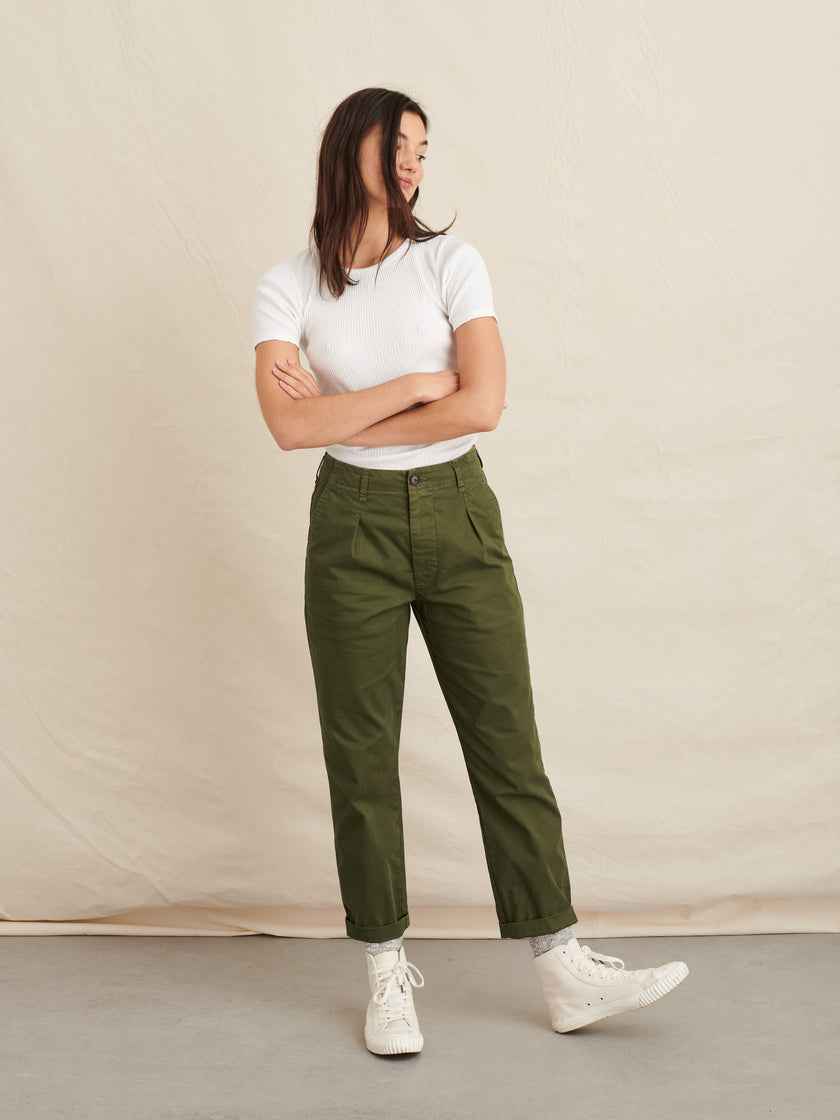 Boy Pant in Garment-Dyed Cotton Twill