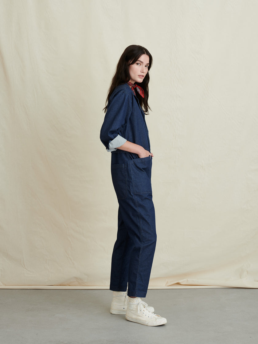 Standard Jumpsuit in Indigo Cotton Twill