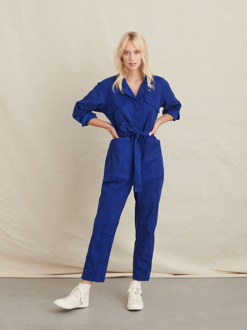 Expedition Jumpsuit in Washed Twill