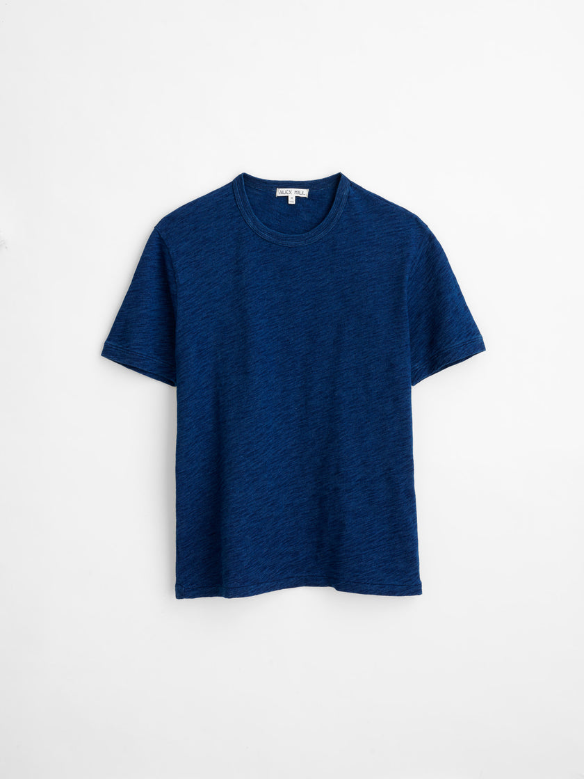Standard T-Shirt in Indigo Slub Cotton