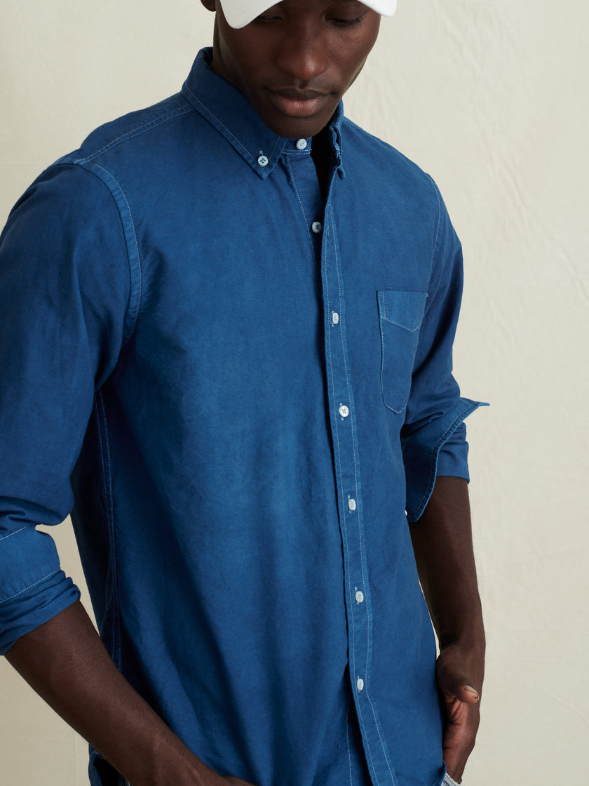 Oxford Shirt in Natural Indigo