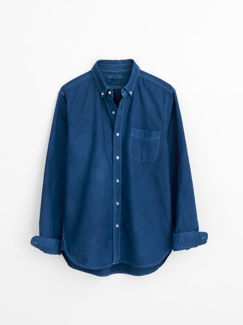 Men's Oxford Shirt in Natural Indigo