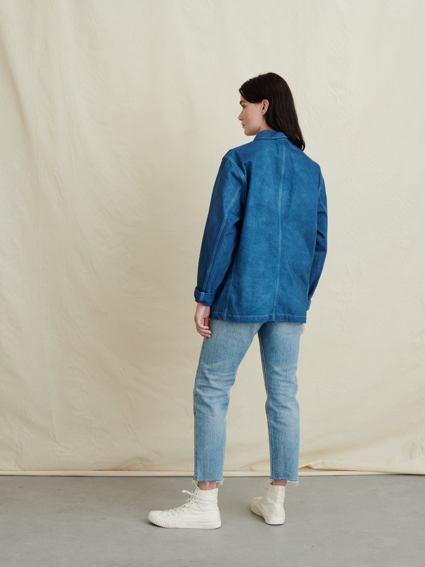 Work Jacket in Natural Indigo
