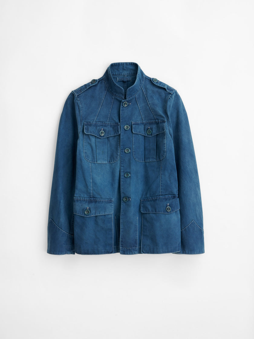 Officer's Jacket in Natural Indigo