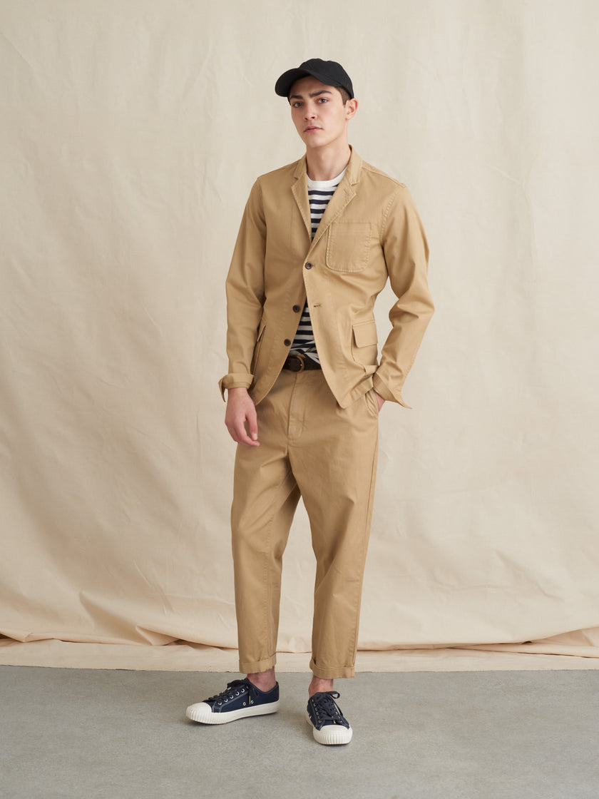 Mill Blazer in Garment-Dye Cotton Twill