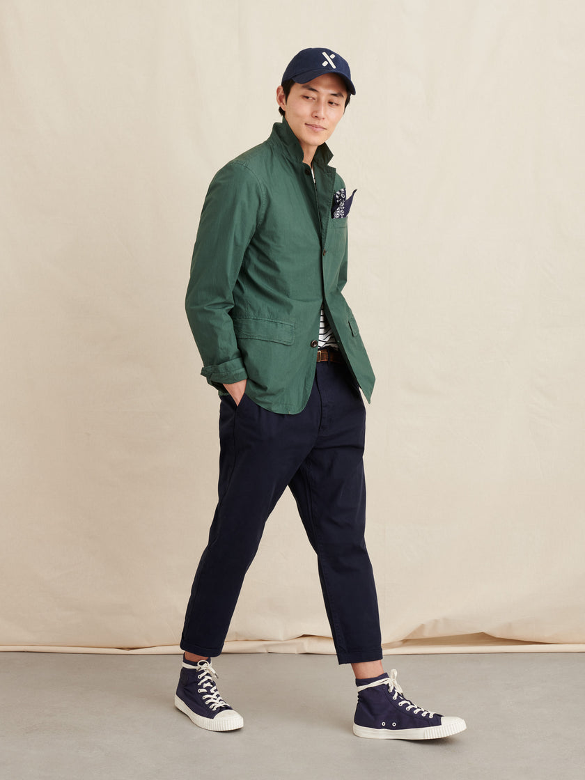Mill Blazer in Garment-Dyed Paper Cotton