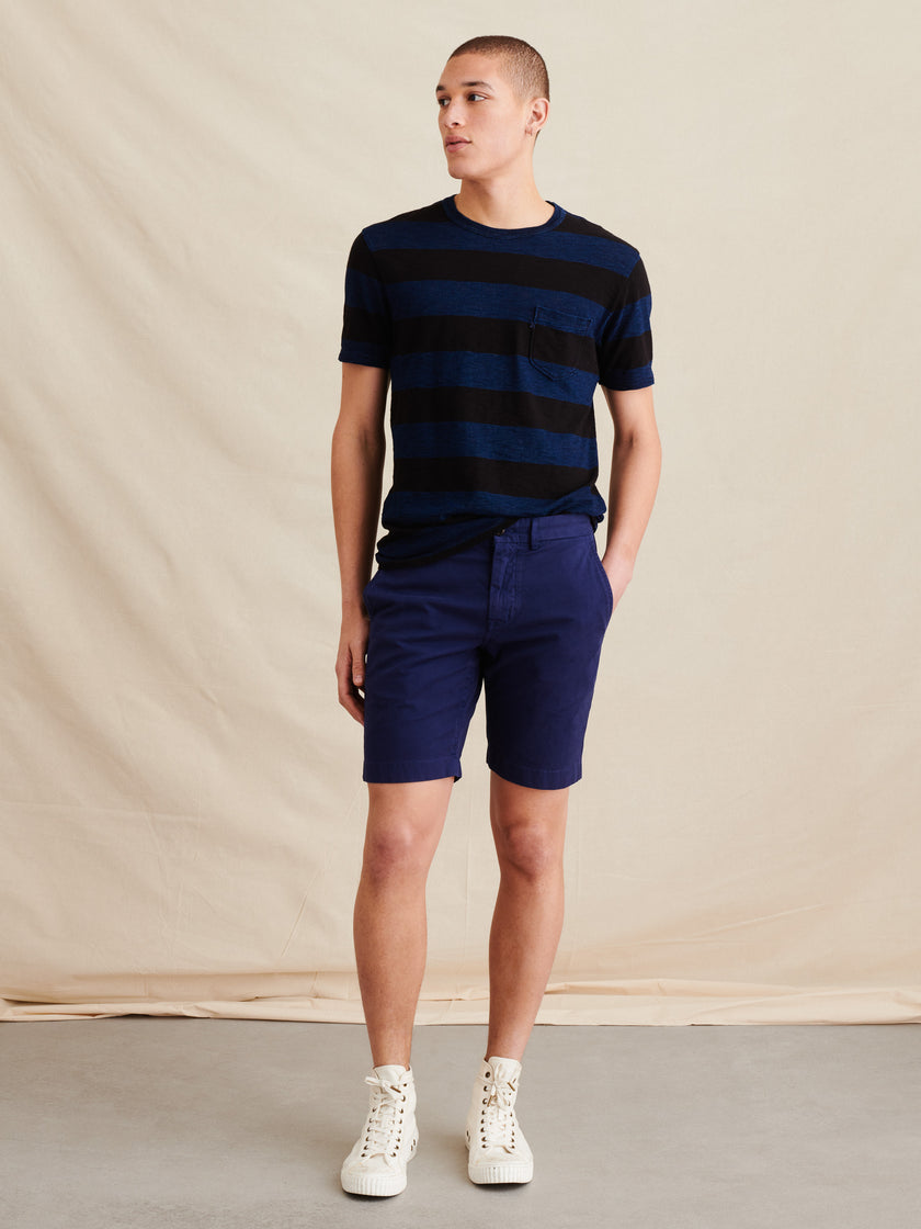 Standard T-Shirt in Wide Striped Slub Cotton
