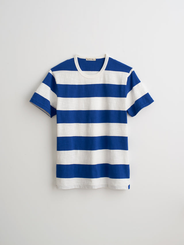 Striped T-Shirt in Slub Cotton
