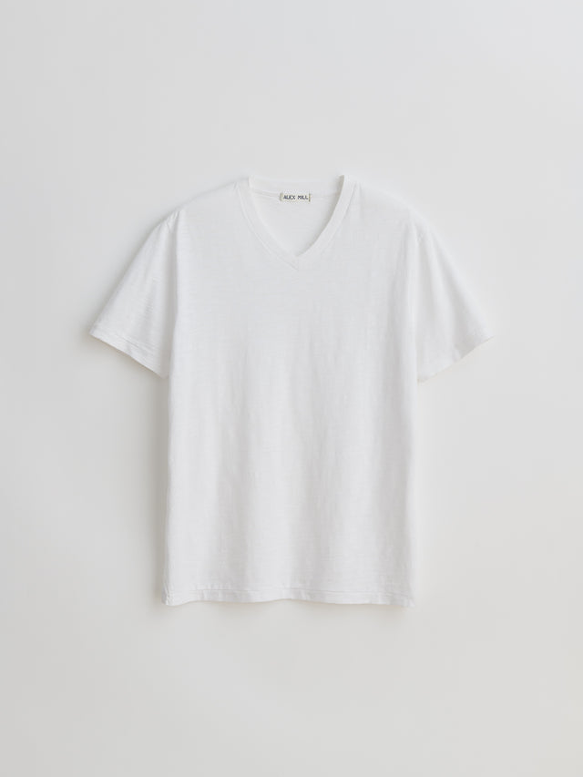 Standard V-Neck Slub Cotton Tee