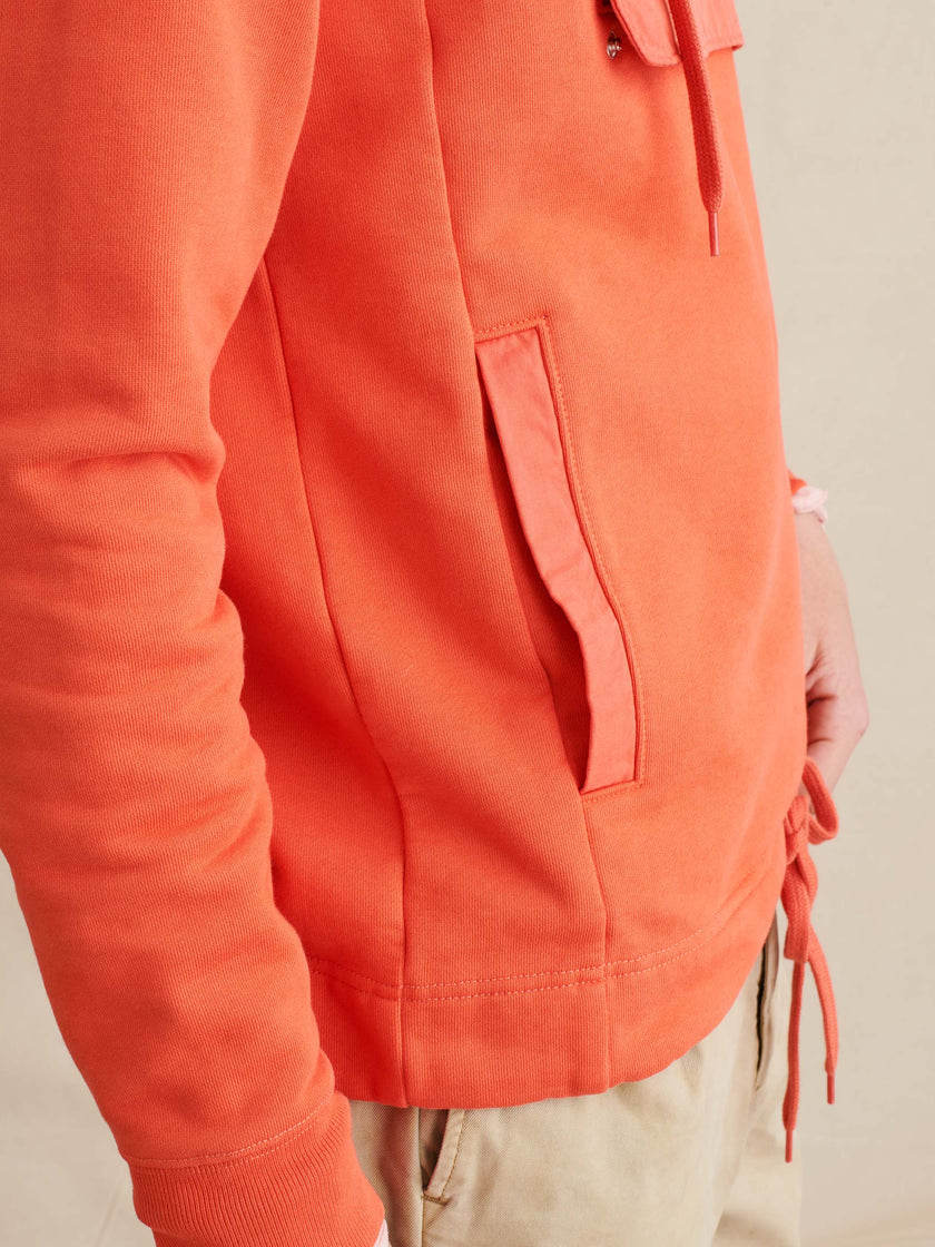 Garment-Dyed Fleece Anorak