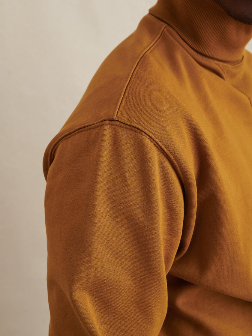 Fleece Turtleneck Sweatshirt