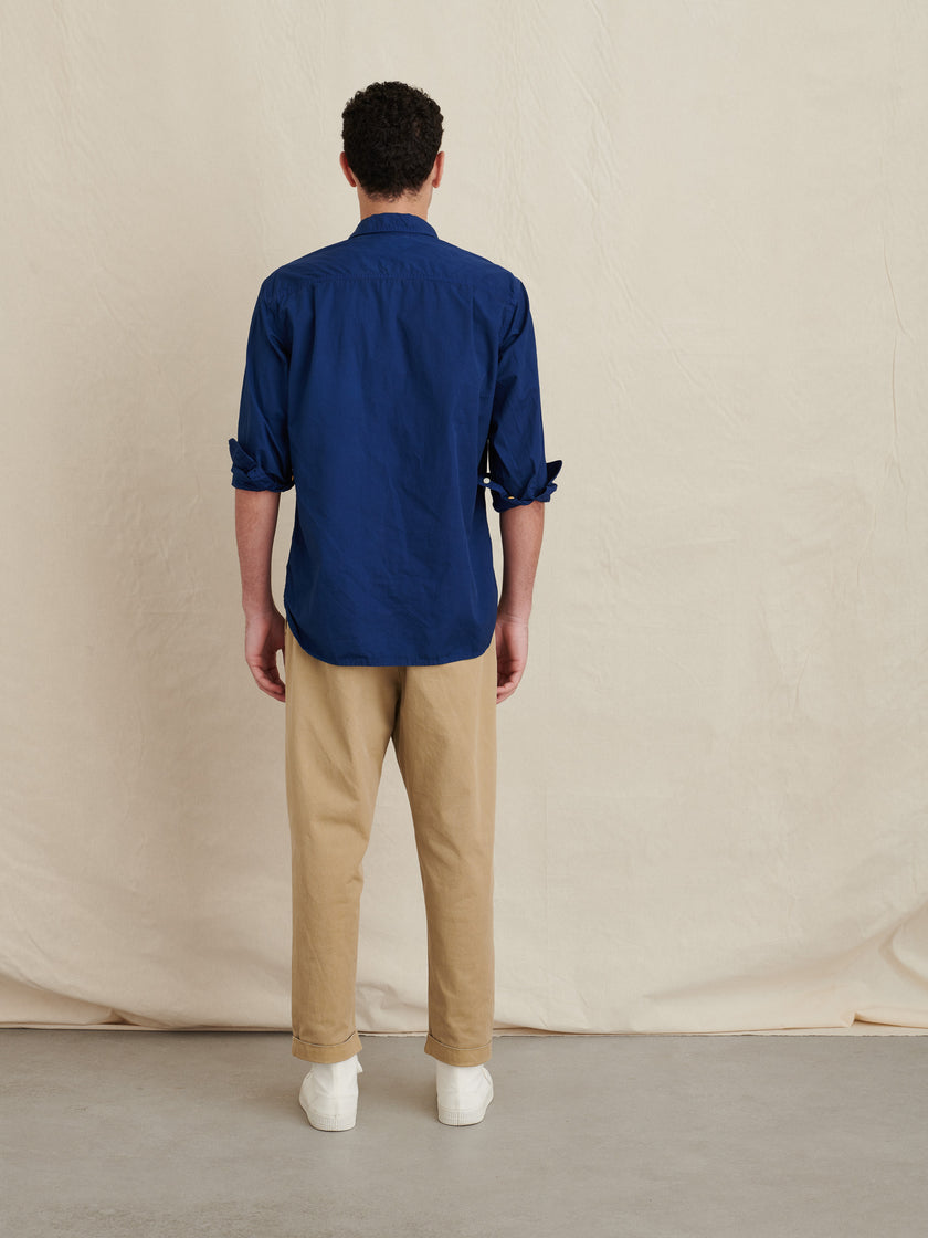 Popover Shirt in Cotton Twill