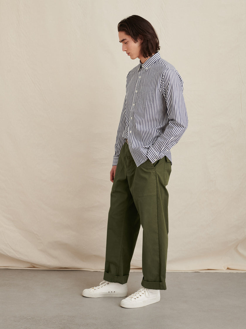 Mill Shirt in Striped Portuguese Poplin