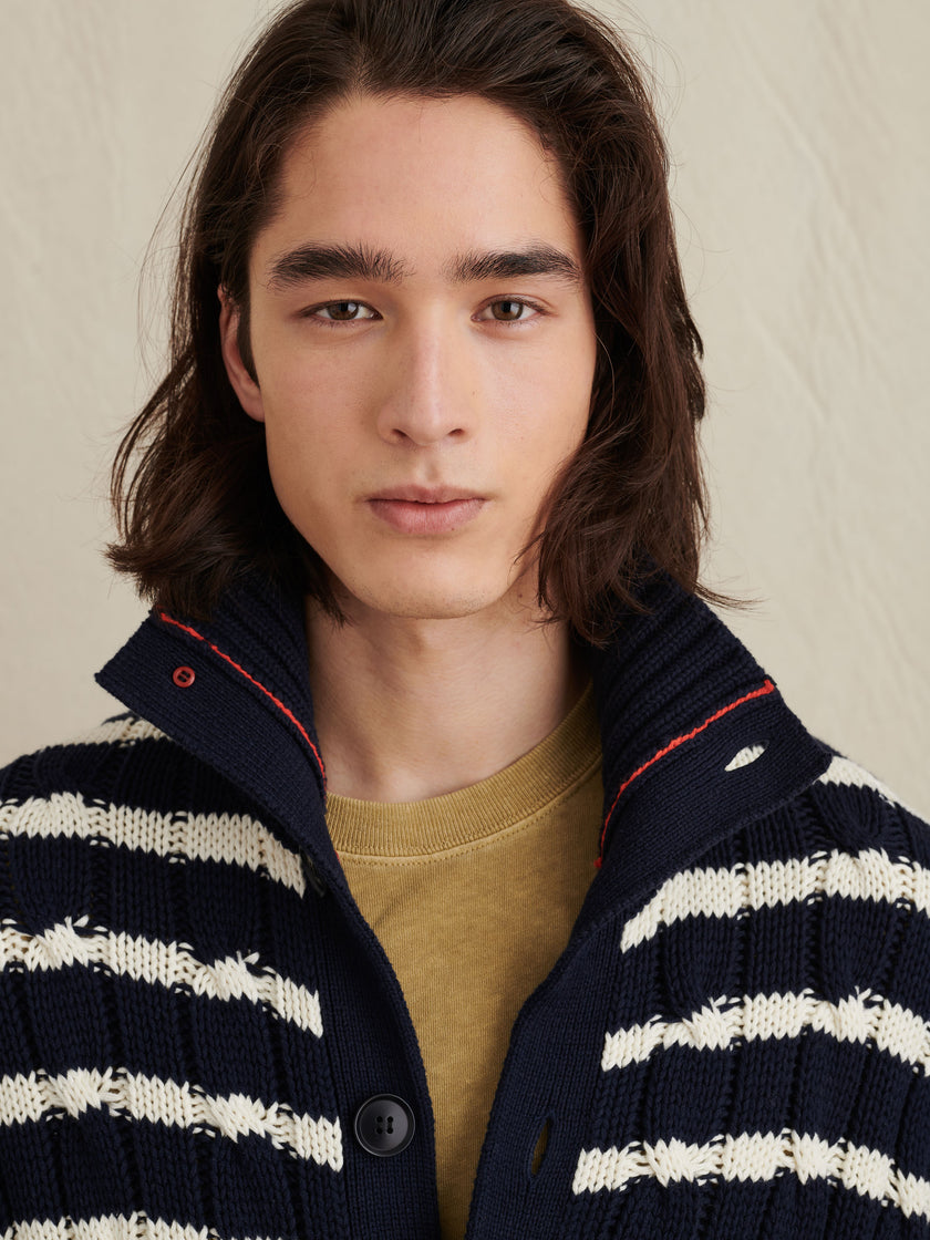 Jack Cable Sweater in Stripe