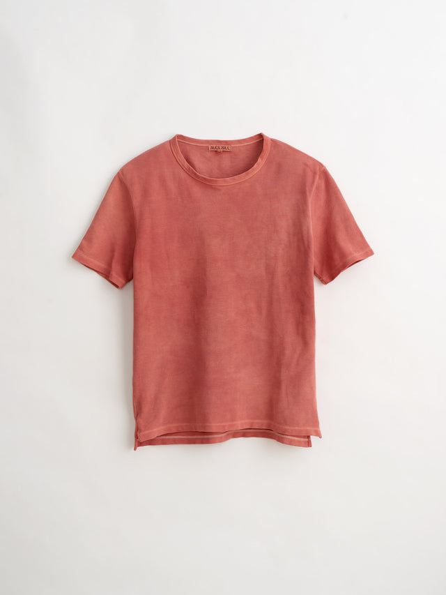 Alex Mill Editions: Natural Dye Pique Tee in Botanical Rose