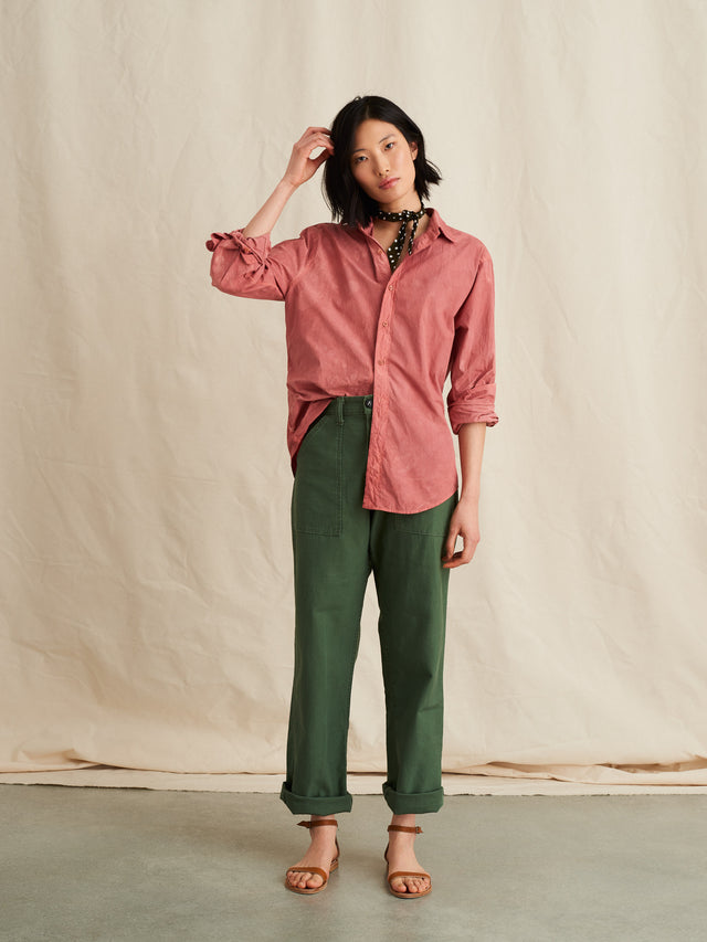 Alex Mill Editions: Natural Dye Shirt in Botanical Rose