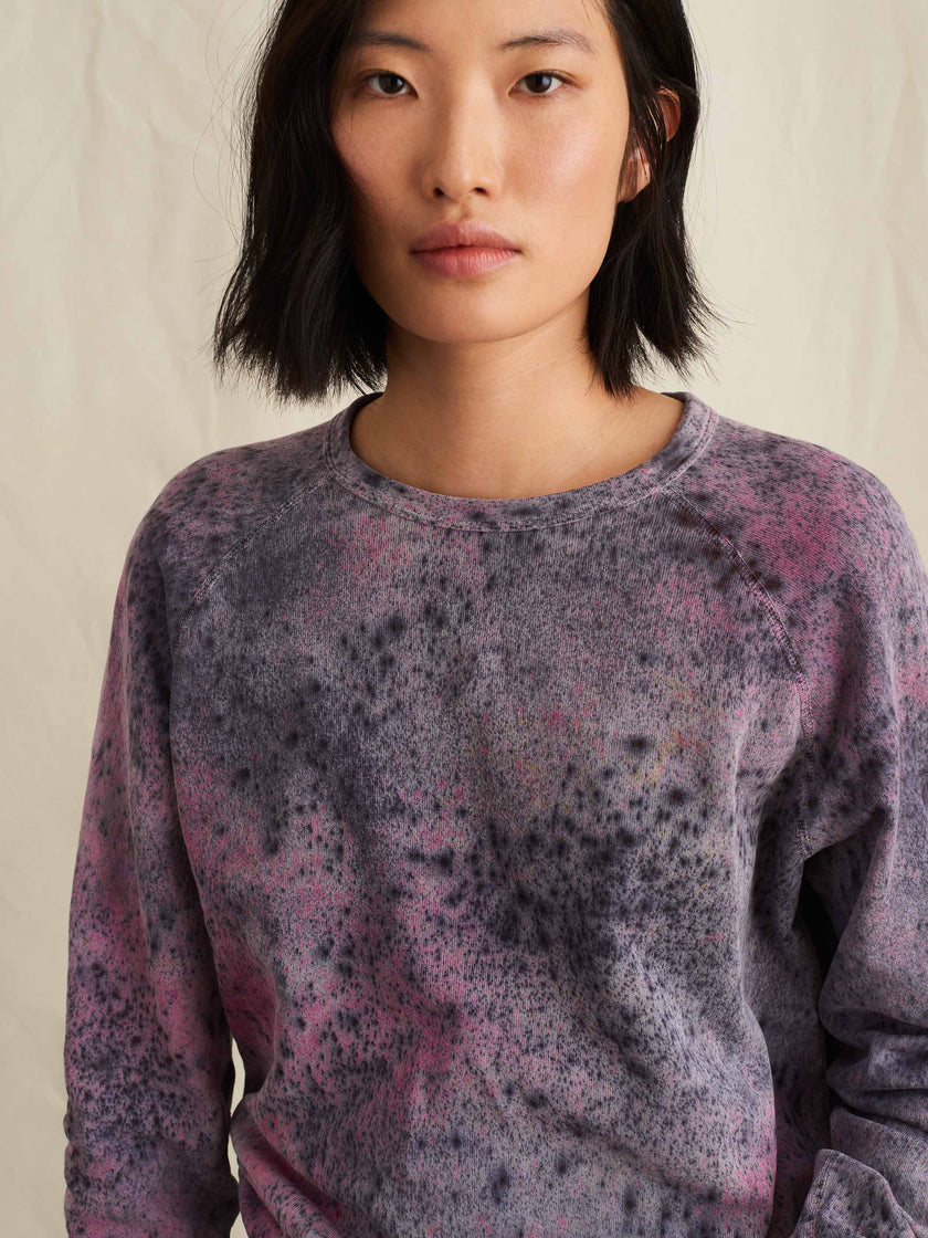 Alex Mill Editions: Natural Dye Sweatshirt in Speckled Botanical Pink Multi