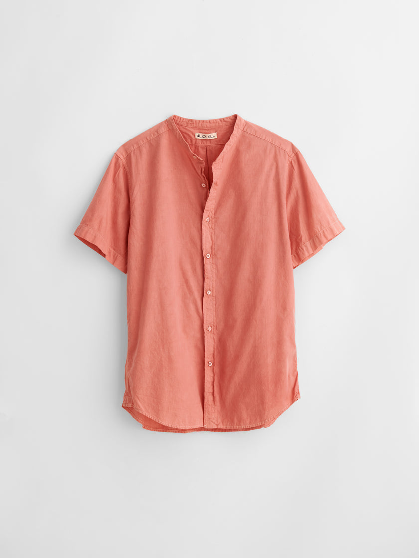 Alex Mill Limited Run: Natural Dye Short Sleeve Button-Down in Botanical Rose
