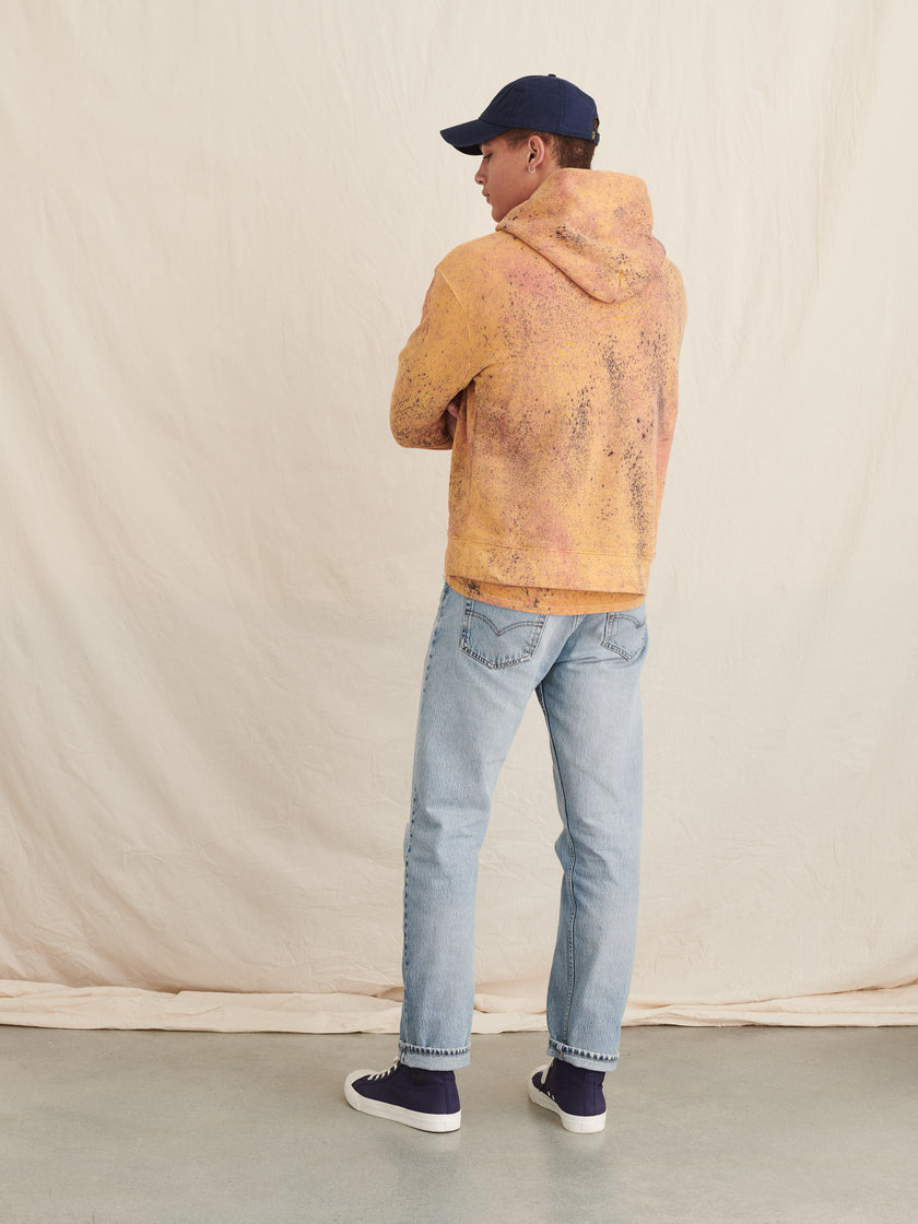 Alex Mill Editions: Natural Dye Hoodie in Speckled Botanical Mustard