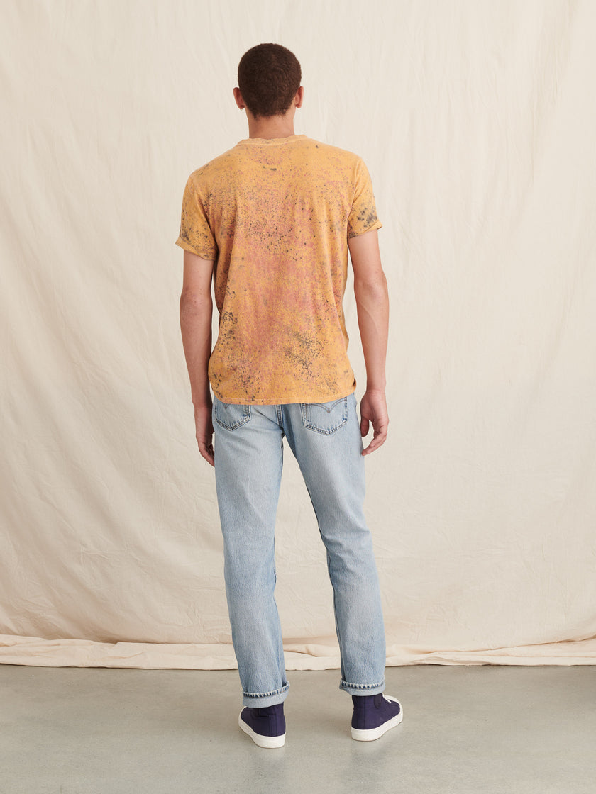 Alex Mill Editions: Natural Dye Tee in Speckled Botanical Mustard