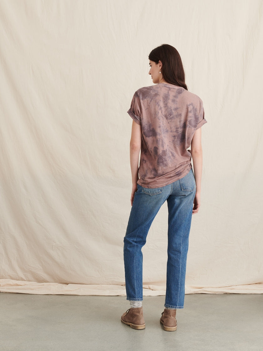 Alex Mill Editions: Natural Dye Tee in Botanical Faded Plum
