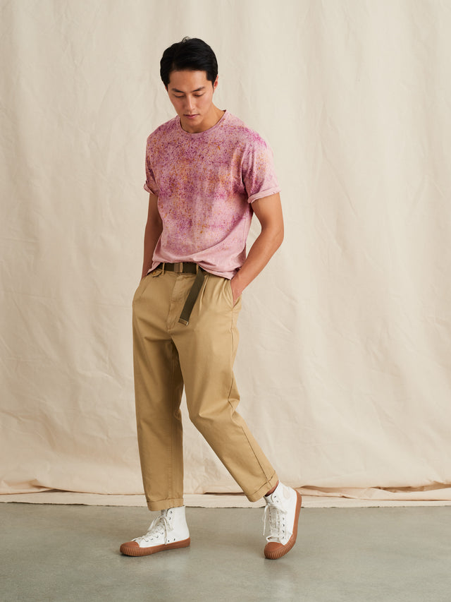 Alex Mill Editions: Natural Dye Tee in Speckled Botanical Pink