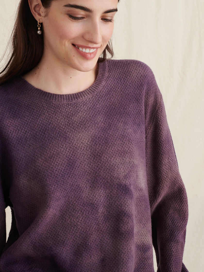 Alex Mill Editions: Natural Dye Sweater in Botanical Violet