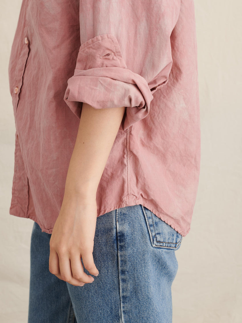 Alex Mill Editions: Natural Dye Shirt in Botanical Pink